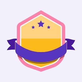 Kolorowa odznaka ozdobiona banerem
