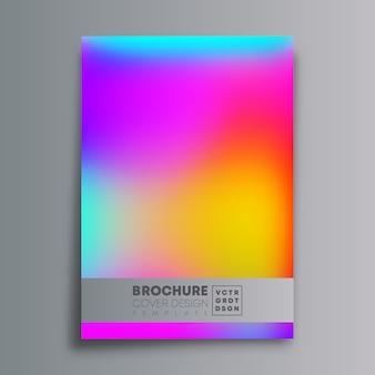 Kolorowa okładka gradientu tekstury