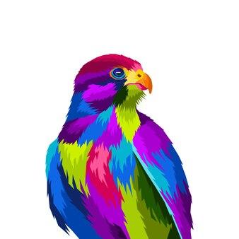 Kolorowa orła wystrzału sztuki portreta wektoru ilustracja