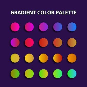 Kolorowa paleta kolorów