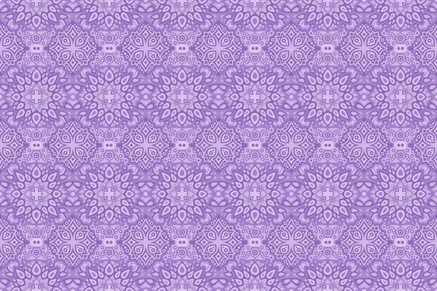 Kolorowa purpurowa sztuka z rocznika bezszwowym wzorem