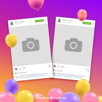 Kolorowa ramka na instagramie