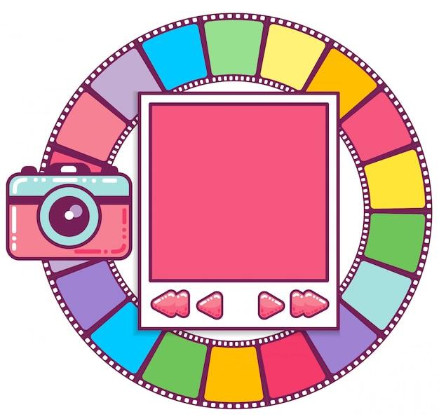 Kolorowa ramka na zdjęcia