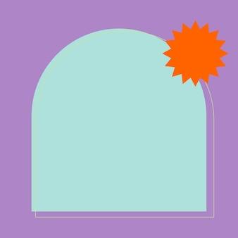 Kolorowa ramka w pastelowym fioletowo-niebieskim kolorze