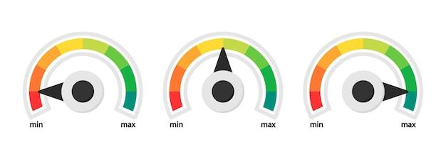 Kolorowa skala prędkościomierza prędkościomierza obrotomierza