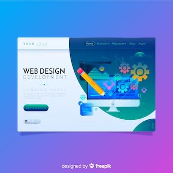 Kolorowa strona docelowa firmy