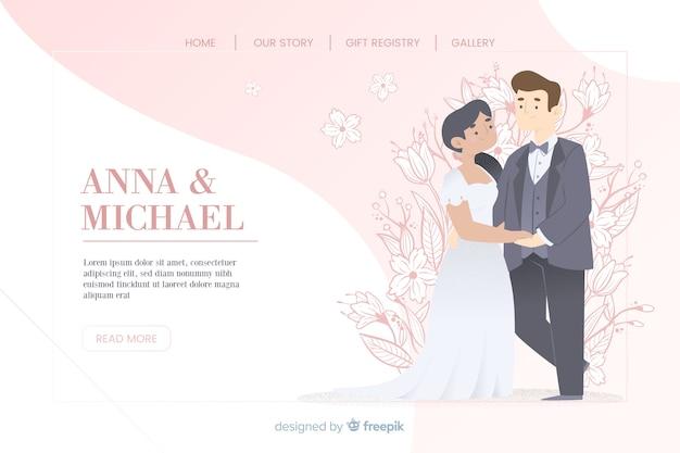 Kolorowa strona docelowa ślubu