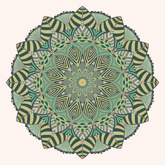 Kolorowa sztuka dekoracji mandali w stylu vintage