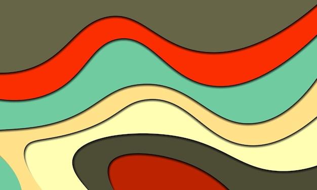 Kolorowa sztuka papieru z tłem cienia. najlepszy projekt dla ciebie baner.