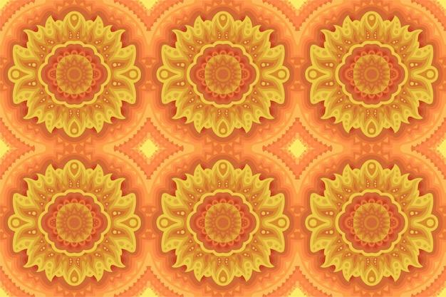 Kolorowa sztuka z żółtym pogodnym bezszwowym wzorem