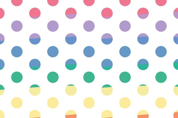 Kolorowa tapeta w kropki