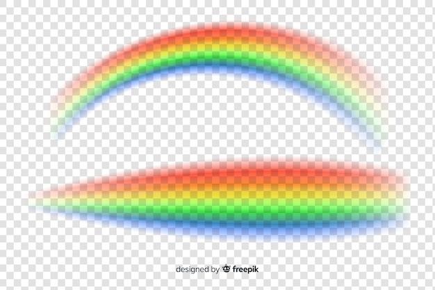 Kolorowa tęcza sey odizolowywający na przejrzystym