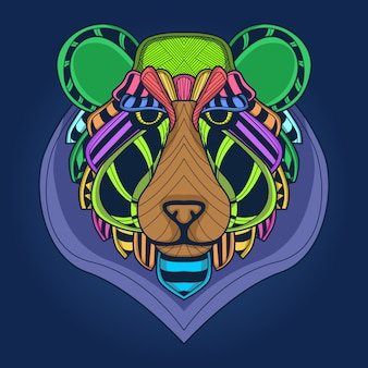 Kolorowa twarz niedźwiedzia