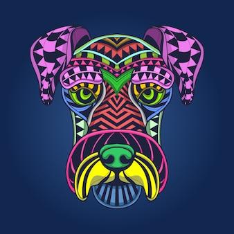 Kolorowa twarz psa