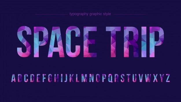 Kolorowa typografia low poly