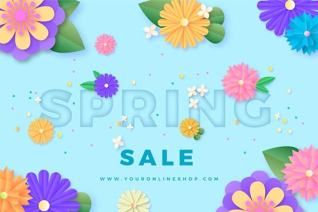 Kolorowa wiosenna wyprzedaż w stylu papieru