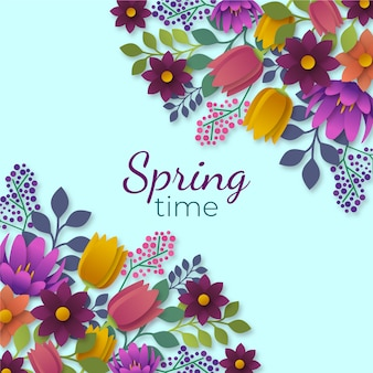 Kolorowa wiosna w stylu papieru