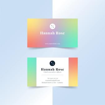 Kolorowa wizytówka