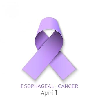 Kolorowa wstążka rak przełyku
