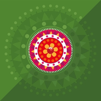 Kolorowa zielona dekoracja kwiatowa