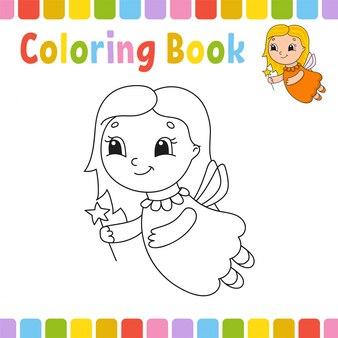 Kolorowanie arkusza wróżki