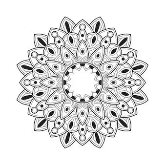 Kolorowanka dla dorosłych wzór mandali