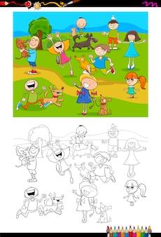 Kolorowanka dla dzieci i psów