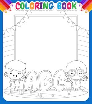 Kolorowanka dla dzieci. kids student