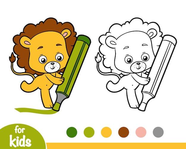 Kolorowanka dla dzieci, lew