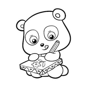 Kolorowanka dla dzieci panda