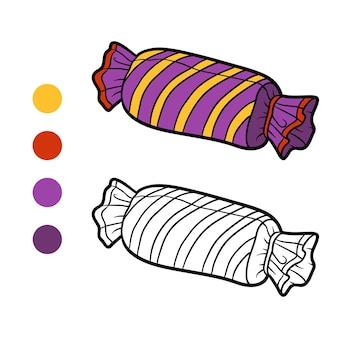 Kolorowanka dla dzieci, poduszka cukierki