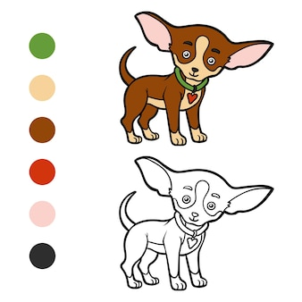 Kolorowanka dla dzieci rasy psów chihuahua