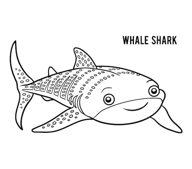 Kolorowanka dla dzieci, rekin wielorybi