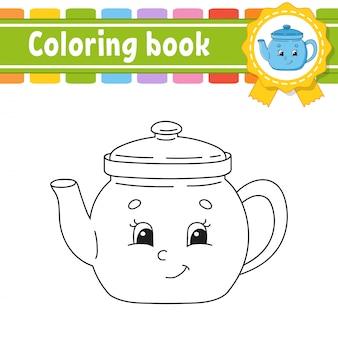 Kolorowanka dla dzieci. wesoły charakter. ilustracja.