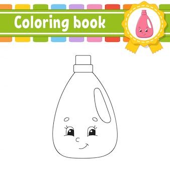 Kolorowanka dla dzieci. wesoły charakter. ilustracji wektorowych. styl kreskówka strona fantasy dla dzieci.