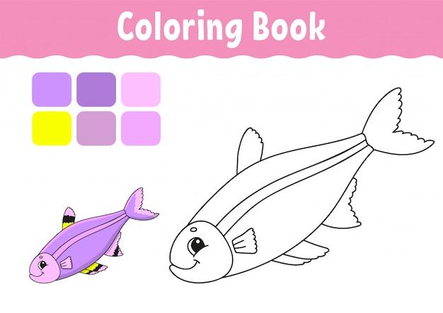 Kolorowanka dla dzieci. wesoły charakter.