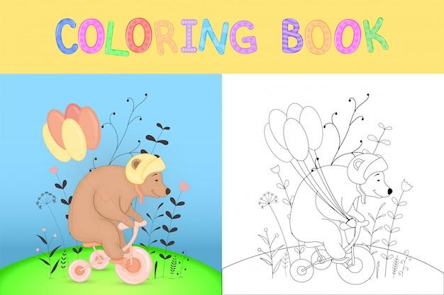Kolorowanka dla dzieci ze zwierzętami kreskówek