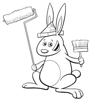 Kolorowanka królik malarz