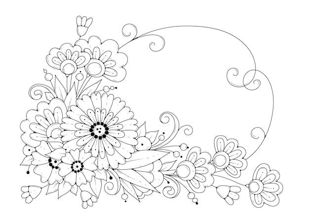 Kolorowanka kwiat