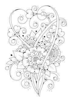 Kolorowanka kwiatowy
