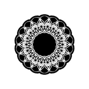 Kolorowanka mandala. projekt tapety, wzór płytek, koszula, kartka z życzeniami, naklejka, wzór koronki i tatuaż. dekoracja do aranżacji wnętrz. wektor etniczne orientalne koło ornament. białe tło
