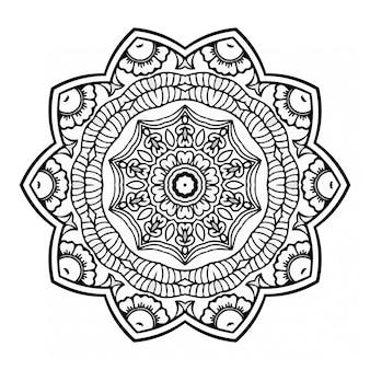 Kolorowanka mandale z ornamentem