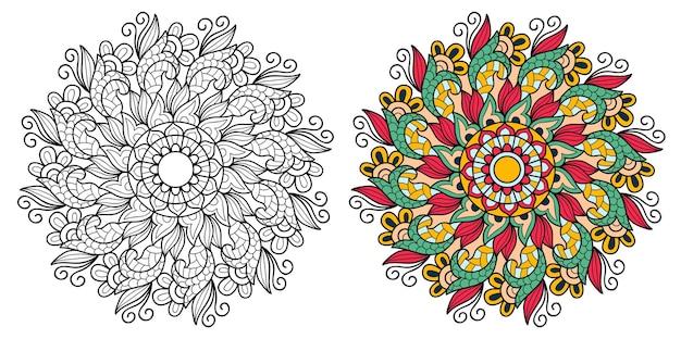 Kolorowanka ozdobna mandala dla dorosłych i dzieci