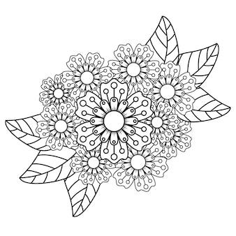 Kolorowanka relaksujący kwiat mandali dla dorosłych.