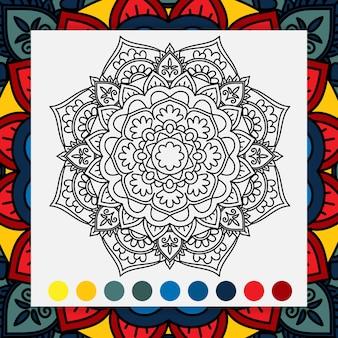 Kolorowanka relaksujący kwiat mandali dla dorosłych