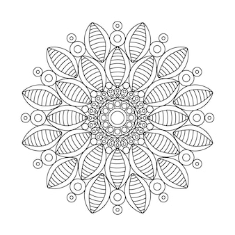 Kolorowanka z kwiatem mandali dla dorosłych relaksujących.