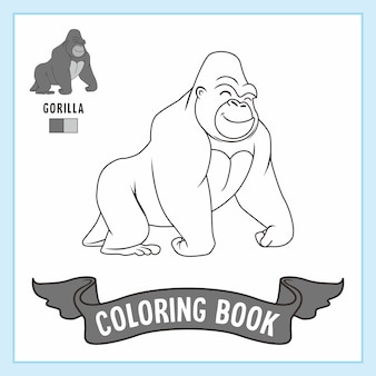 Kolorowanka ze zwierzętami goryla