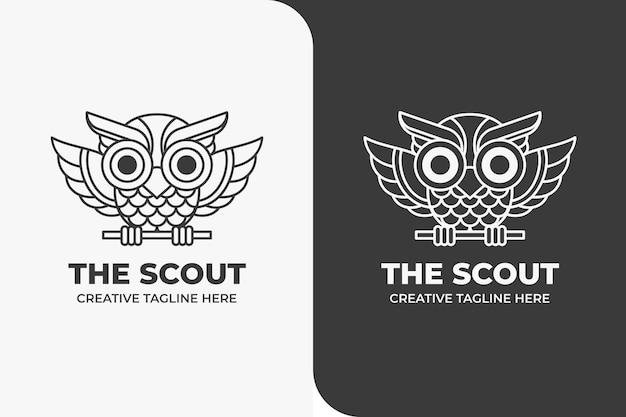 Kolorowanka ze zwierzętami sowa scout