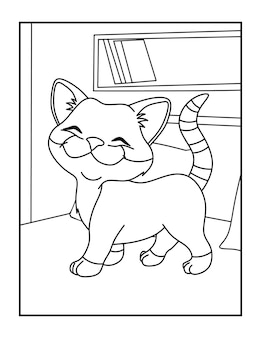 Kolorowanki dla dzieci ze słodkimi kotami