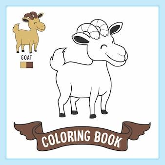 Kolorowanki dla zwierząt z kóz kolorowanka